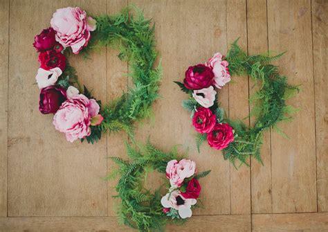diy silk flower wreath green wedding shoes weddings