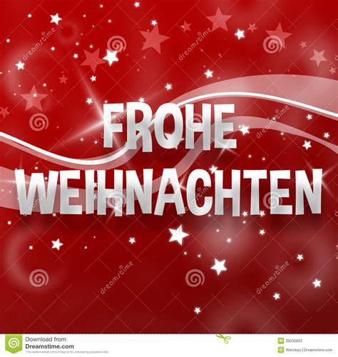 di commercio tedesca lingua tedesca di buon natale illustrazione di stock