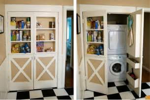 Storage Ideas Small House Doors With Shelves Conceal Washer And Dryer Stashvault