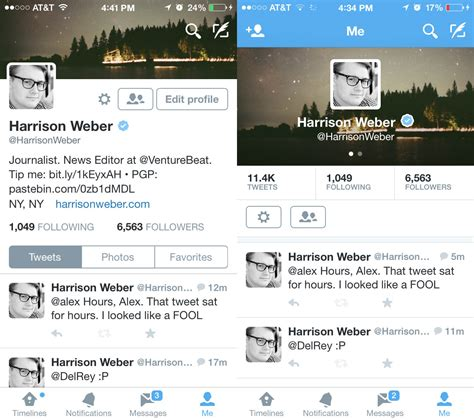New Twitter Layout On Iphone | twitter redesigns profiles on ios venturebeat business