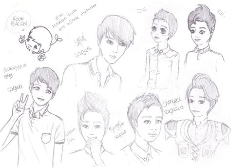 sketchbook exo exo sketches by swagsagwa on deviantart