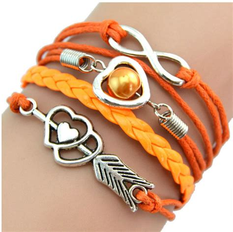 Gelang Vintage Friendship Charm Leather Bracelet Bangle bracelet infinity pearl friendship antique leather charm bracelet ebay