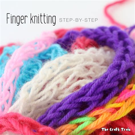 knitting finger finger knitting for the craft