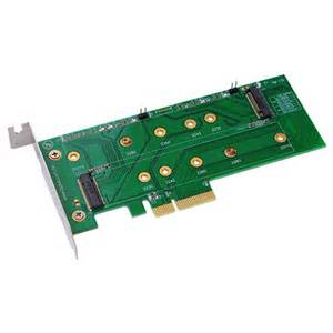 M2P4S M.2 (NGFF) PCIe base SSD to PCIe X4 Adapter Dual M.2 Pcie Ssd Adapter