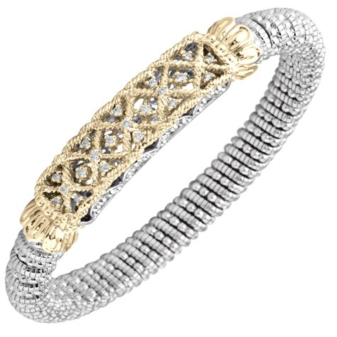 Timeless Open Weave Design Diamond Bracelet by Vahan