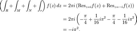 residue at infinity methods of contour integration the free