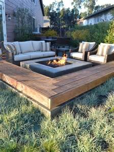 Firepit Benches Modern Fixed Bench Around Pit Design Elements