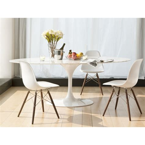 furniture white oval extending dining table quilted faux