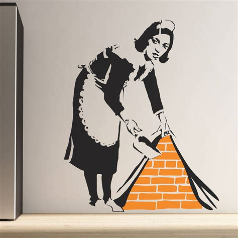 Banksy Wall Stickers Uk banksy maid wall stickers by the binary box