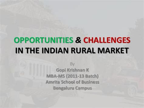 Opportunity For Mba In Marketing by Opportunities Challenges In The Indian Rural Market