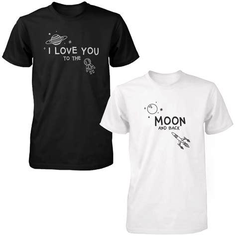 Matching Shirt i you to the moon and back shirts black