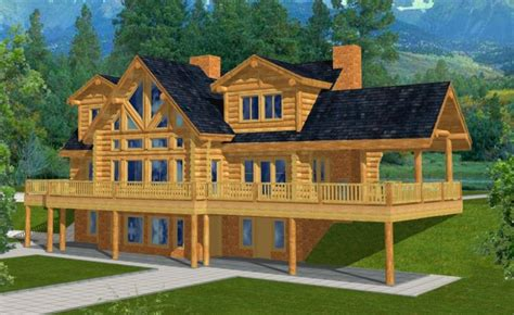 walkout basement home plans mountain home plans with walkout basement