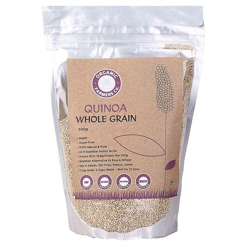 whole grains buy buy quinoa whole grain 500g organic farmers co