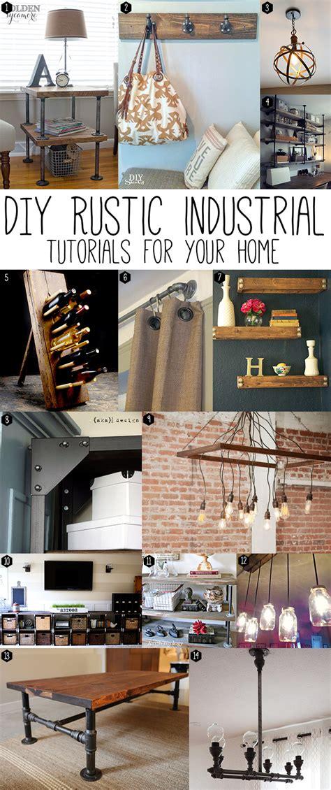 Diy Tutorials Home Decor Diy Rustic Industrial Chic Andrea S Notebook