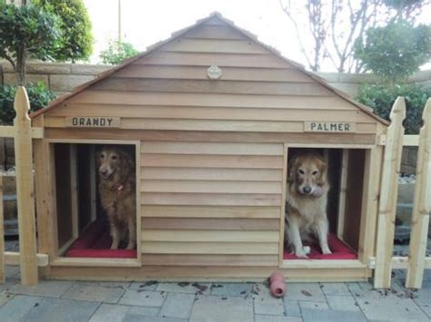 cedar dog houses climate controlled cedar dog house backyard garden pinterest