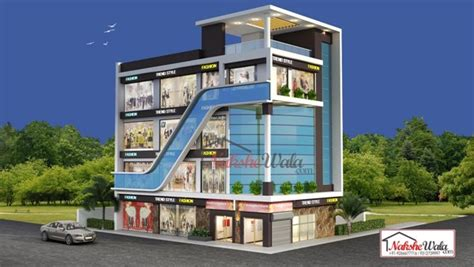 2 Storey Commercial Building Floor Plan by Commercial Building Elevation Front 3d View Design Ideas