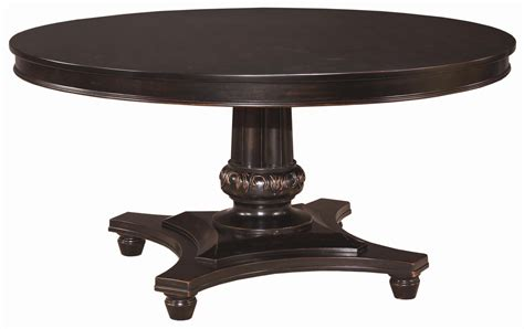 black ash round extending dining table round side table