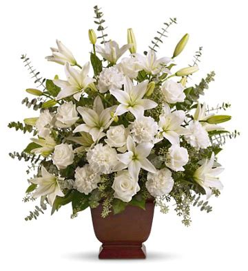 send sympathy funeral flowers in wellington fl blossom serenity sympathy flowers tribute nationwide flower delivery