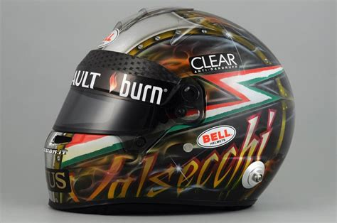 Kaos Lotus F1 Team racing helmets garage bell hp7 d valsecchi 2013 by kaos