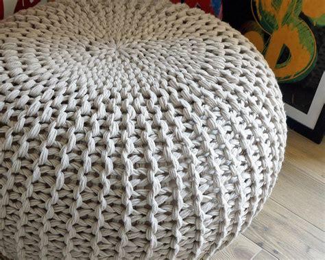 crochet pouf ottoman pattern free ottoman bean bag footstool pattern knitting pattern by