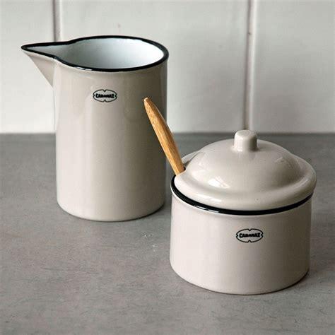 Milch Zucker Set by Cabanaz Milch Zucker Set Zuckerdose Milchk 228 Nnchen Grau