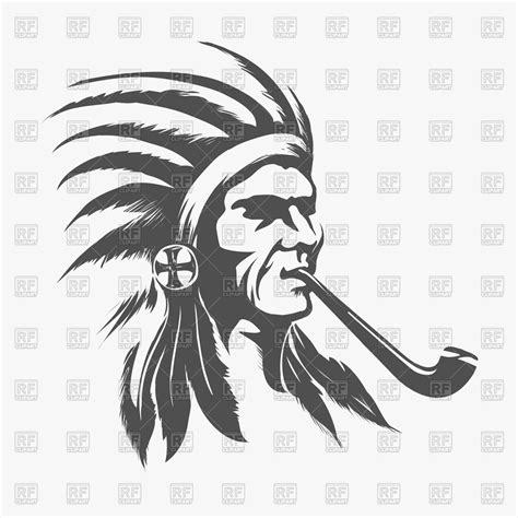 eps native format native indian face royalty free vector clip art image