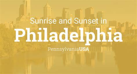 sunrise  sunset times  philadelphia april