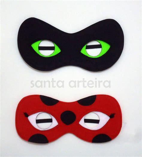 printable ladybug mask miraculous mascara em feltro ladybug e cat noir