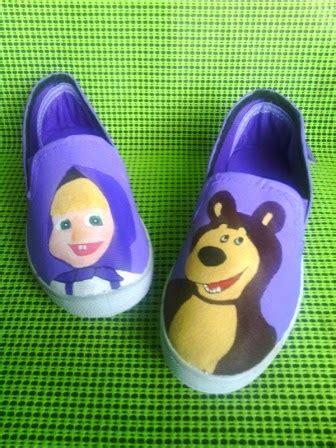Sepatu Spicer seni sepatu kanvas lukis februari 2014
