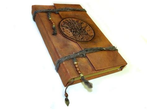 Handmade Grimoire - oak king large blank book of shadows handmade journal