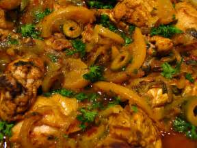 file moroccan food chicken tagine with preserved lemons