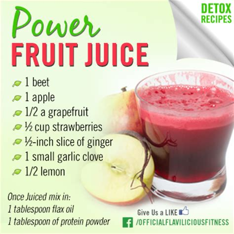 Total Spa Detox Drink Recipe by Tasty Thursday Power Fruit Juice Exercises For