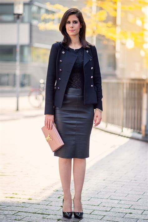go the leather skirt for the office work