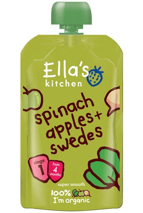 Ella S Kitchen by Ella S Kitchen Spinach Apples 120g Ella S Kitchen