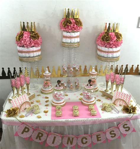 Table Set Decoration 15 Bridal Shower Birthday Baby Shower pink gold princess buffet cake centerpiece