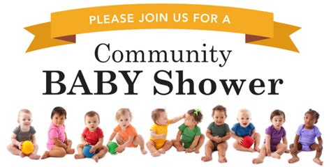 Community Baby Shower by Oakdale Community Baby Shower Center For Human Services