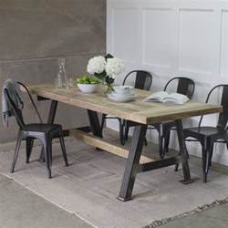 A Frame Dining Table A Reclaimed Wood Dining Table With Steel A Frame By Rust Collections Notonthehighstreet