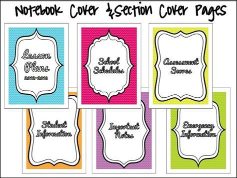 printable lesson plan binder 67 best free student planners too images on pinterest
