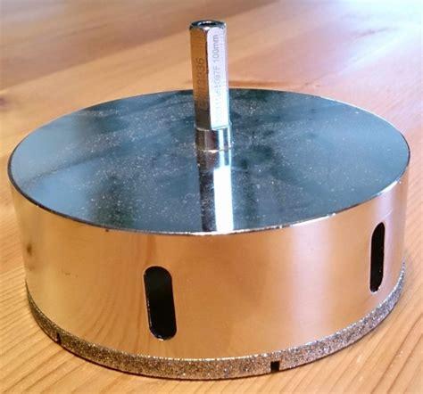 feinsteinzeug fliesen bohren mit diamantbohrkrone diamantbohrkrone feinsteinzeug 100 mm plus bmh profi shop