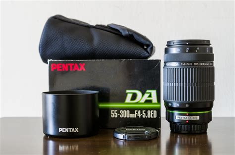 Pentax Lens Smc Da 55 300mm F4 5 8 smc pentax da 55 300mm f4 5 8 ed used corner