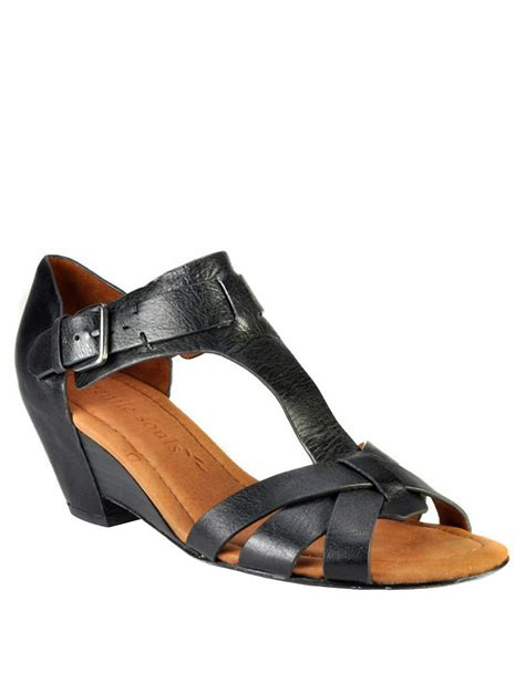 gentle souls sandals gentle souls malana leather sandals in black lyst