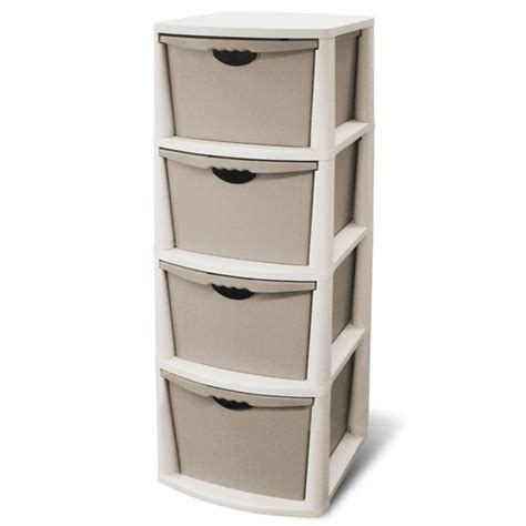 4 drawer plastic storage unit white sterilite 4 drawer storage cabinet garage storage
