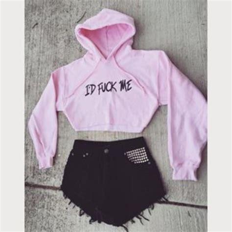 Crop Hodie Pink top crop tops baby pink sleeve crop top cropped hoodie wheretoget