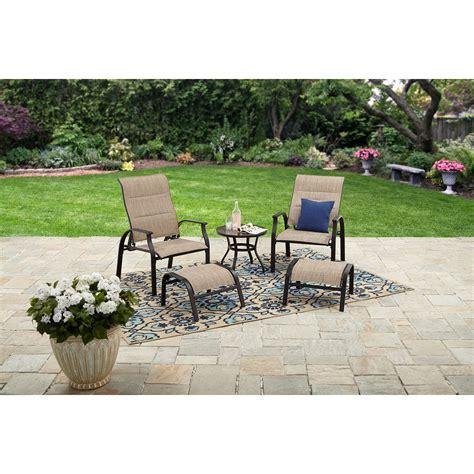 mainstays highland knolls  piece outdoor patio furniture