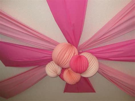 ceiling decoration for myla s 1st birthday pink monkey