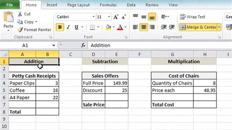 tutorial excel 2010 formulas excel 2010 tutorial for beginners 3 calculation basics