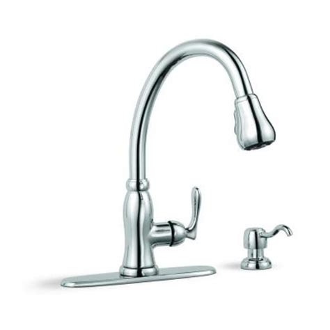 glacier bay pull down kitchen faucet glacier bay pavilion single handle pull down sprayer