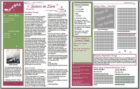 her notebook rs january newsletter template lds relief