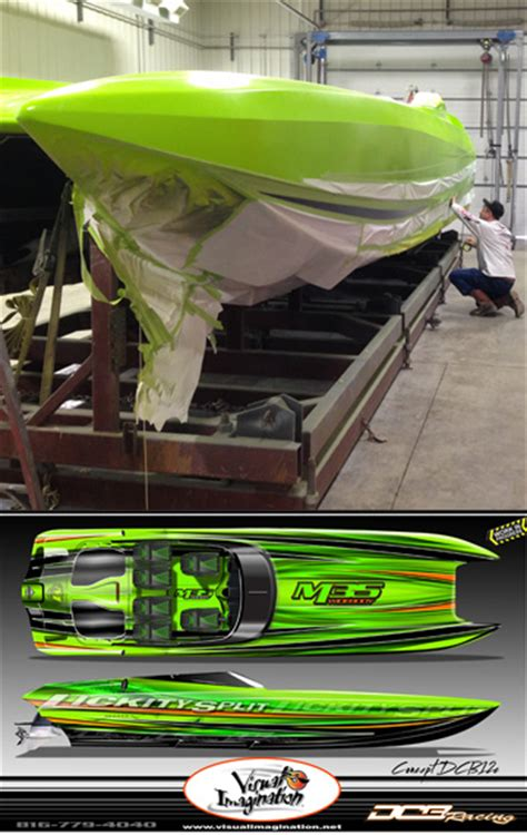 visual imagination boat paint lickity split racing dcb s craziest m35 widebody built