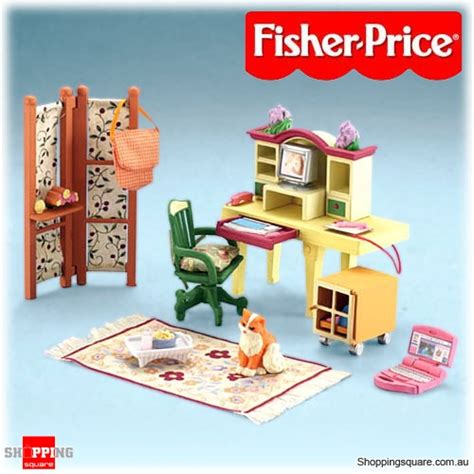 fisher price loving family deluxe work at home office